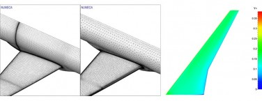 Aerodynamic simulation of a NASA Common Research Model (CRM) aircraft for JAXA APC-III workshop