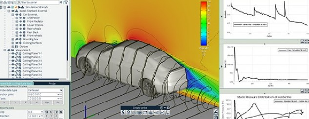 End-to-end aerodynamics CFD simulation of a car