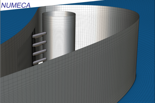 Block structured mesh for turbine cooling