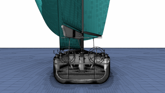 HEXPRESS™/Hybrid mesh for external aero of sailing yacht