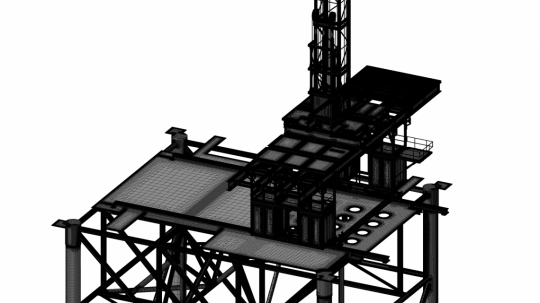 Full offshore platform unstructured meshing using HEXPRESS™/Hybrid