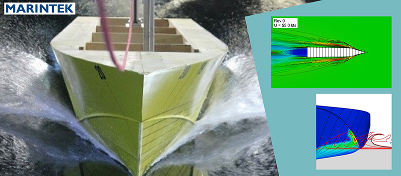 For the prediction of the resistance curve of a planing hull and validation against model tests, Marintek used FINE™/Marine and HEXPRESS™ in this user case.