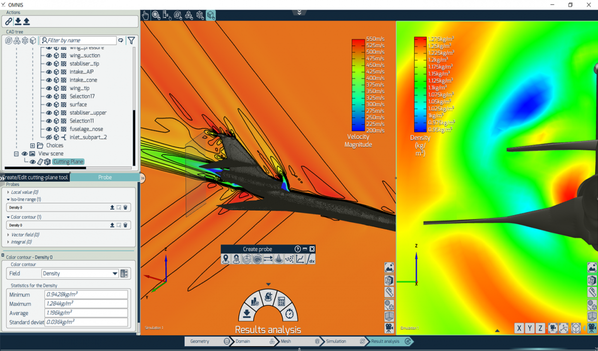 Aerospace CFD simulation with OMNIS from NUMECA
