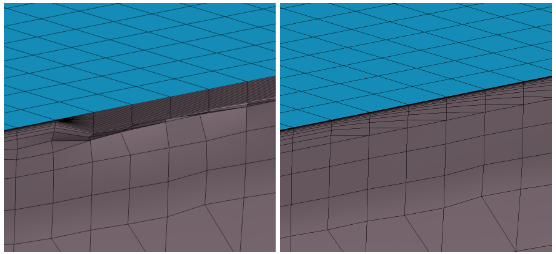 HEXPRESS/Hybrid Stretching ratio better respected when closing viscous layers